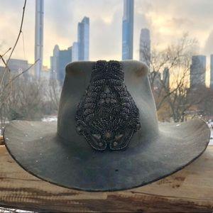 100% Beaver Grey Cowboy Hat Men's Gray Western